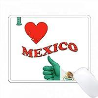 私はメキシコが大好き。メキシコの国旗。人気のある言葉。 PC Mouse Pad パソコン マウスパッド