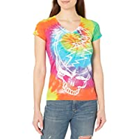 Liquid Blue Womens 13504J-T DY-XL Grateful Dead Steal Your Face Rainbow