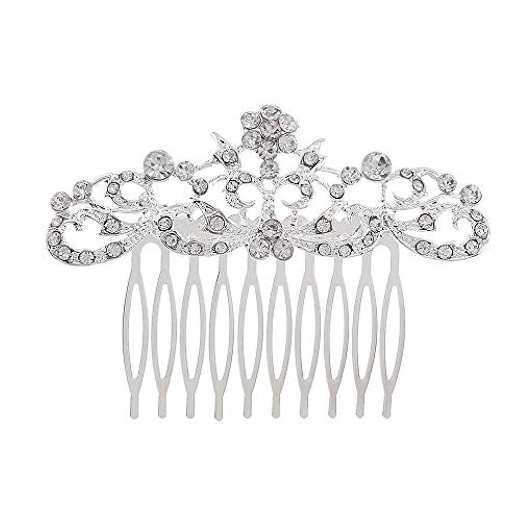 差別ページ集団髪の櫛の櫛の櫛の花嫁の髪の櫛のファッションラインストーンの櫛の櫛の花嫁の頭飾りの結婚式のアクセサリー