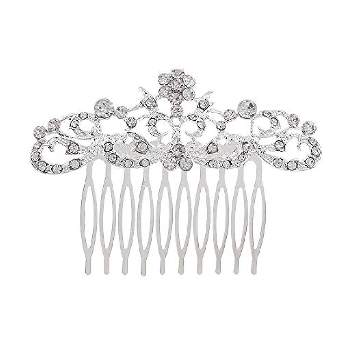 ハロウィン女性食い違い髪の櫛の櫛の櫛の花嫁の髪の櫛のファッションラインストーンの櫛の櫛の花嫁の頭飾りの結婚式のアクセサリー