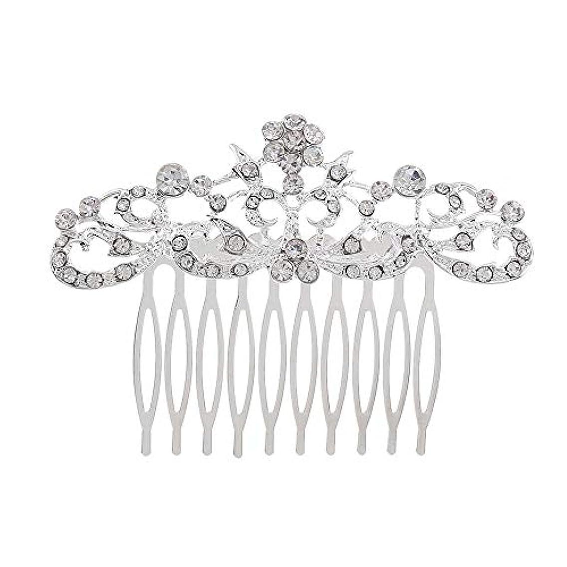有罪自慢セマフォ髪の櫛の櫛の櫛の花嫁の髪の櫛のファッションラインストーンの櫛の櫛の花嫁の頭飾りの結婚式のアクセサリー