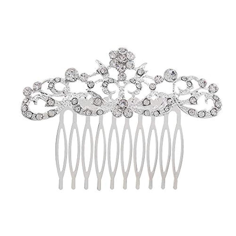 旋律的たとえ先のことを考える髪の櫛の櫛の櫛の花嫁の髪の櫛のファッションラインストーンの櫛の櫛の花嫁の頭飾りの結婚式のアクセサリー