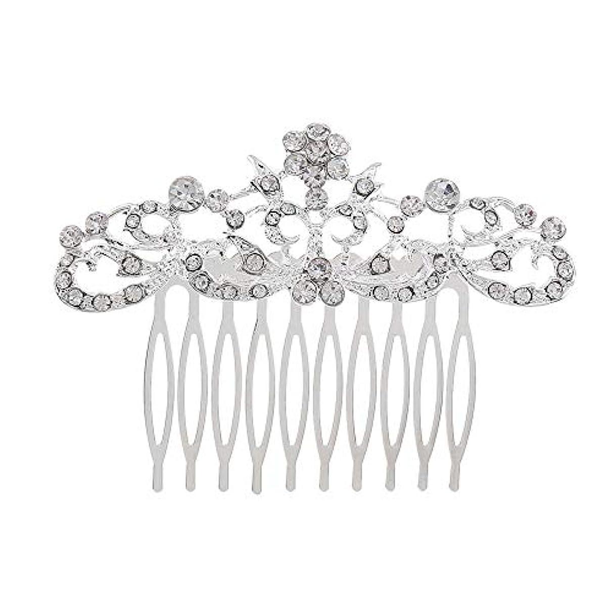 メジャーベンチカニ髪の櫛の櫛の櫛の花嫁の髪の櫛のファッションラインストーンの櫛の櫛の花嫁の頭飾りの結婚式のアクセサリー