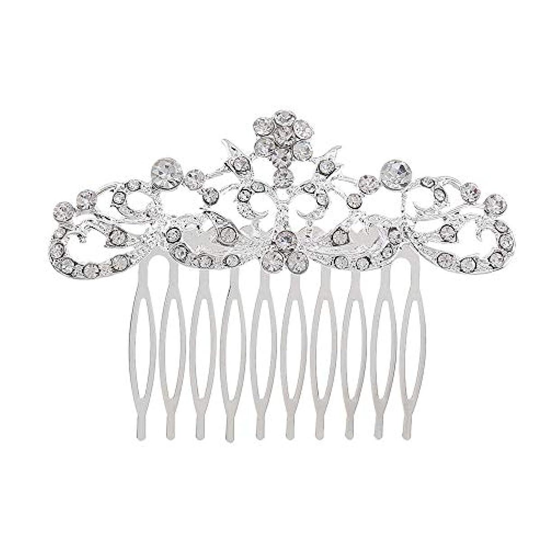 ベアリングサークルブレンド取得する髪の櫛の櫛の櫛の花嫁の髪の櫛のファッションラインストーンの櫛の櫛の花嫁の頭飾りの結婚式のアクセサリー