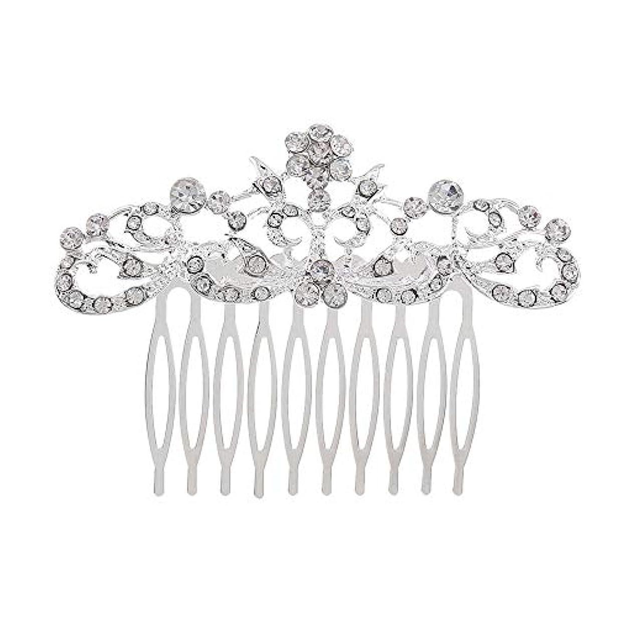 スコアホーン廃棄髪の櫛の櫛の櫛の花嫁の髪の櫛のファッションラインストーンの櫛の櫛の花嫁の頭飾りの結婚式のアクセサリー