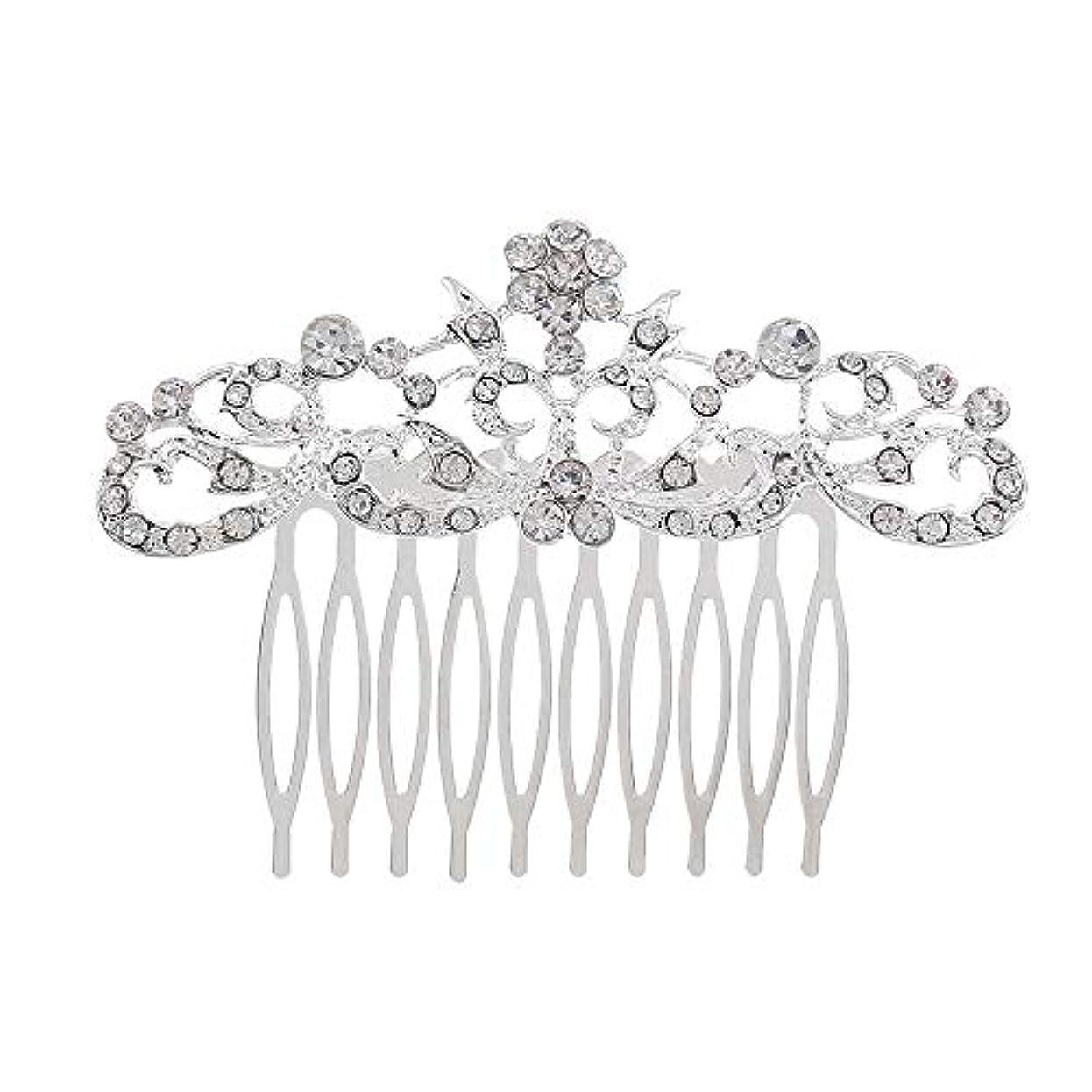 滞在並外れた計算する髪の櫛の櫛の櫛の花嫁の髪の櫛のファッションラインストーンの櫛の櫛の花嫁の頭飾りの結婚式のアクセサリー