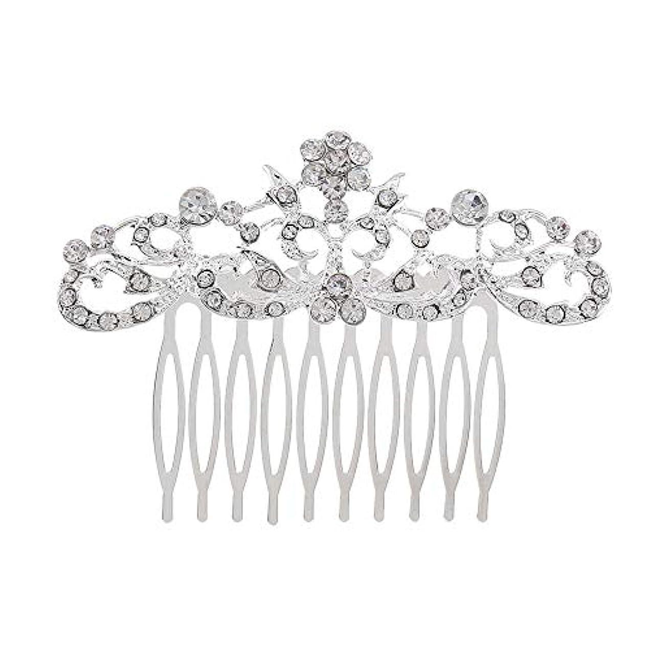 引き受けるパレードアプローチ髪の櫛の櫛の櫛の花嫁の髪の櫛のファッションラインストーンの櫛の櫛の花嫁の頭飾りの結婚式のアクセサリー