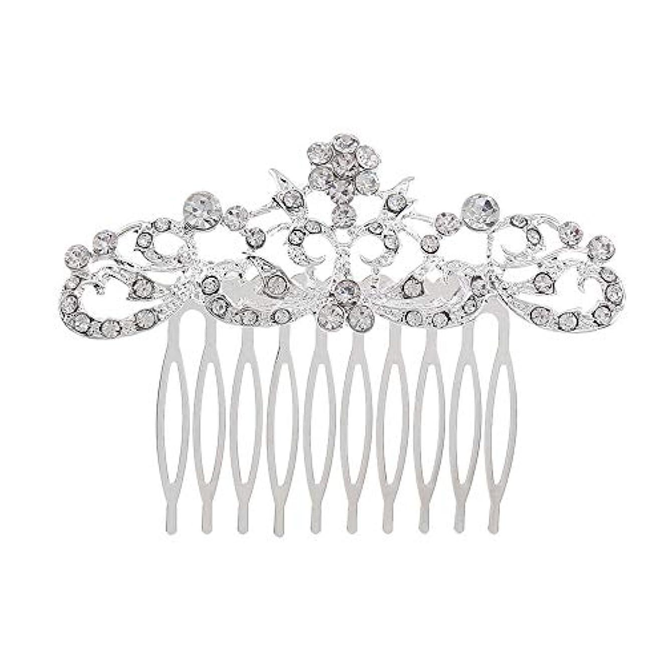 アンソロジーペナルティ絶妙髪の櫛の櫛の櫛の花嫁の髪の櫛のファッションラインストーンの櫛の櫛の花嫁の頭飾りの結婚式のアクセサリー