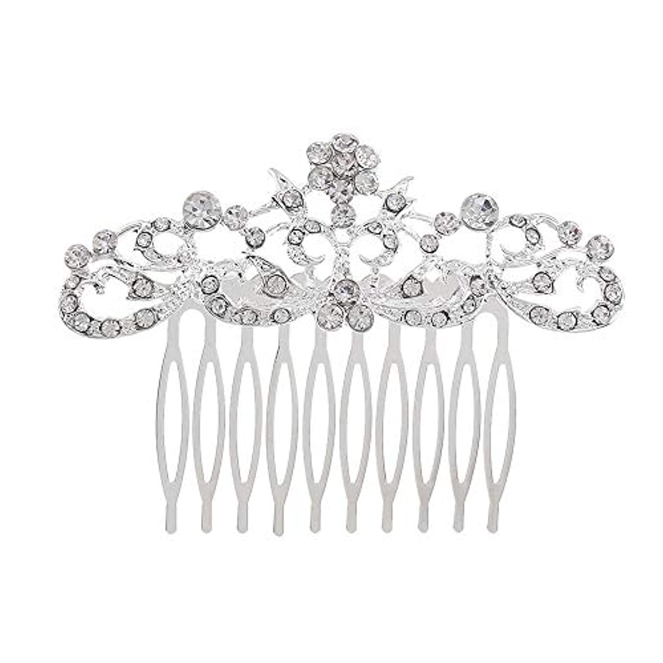 登山家比較的マカダム髪の櫛の櫛の櫛の花嫁の髪の櫛のファッションラインストーンの櫛の櫛の花嫁の頭飾りの結婚式のアクセサリー