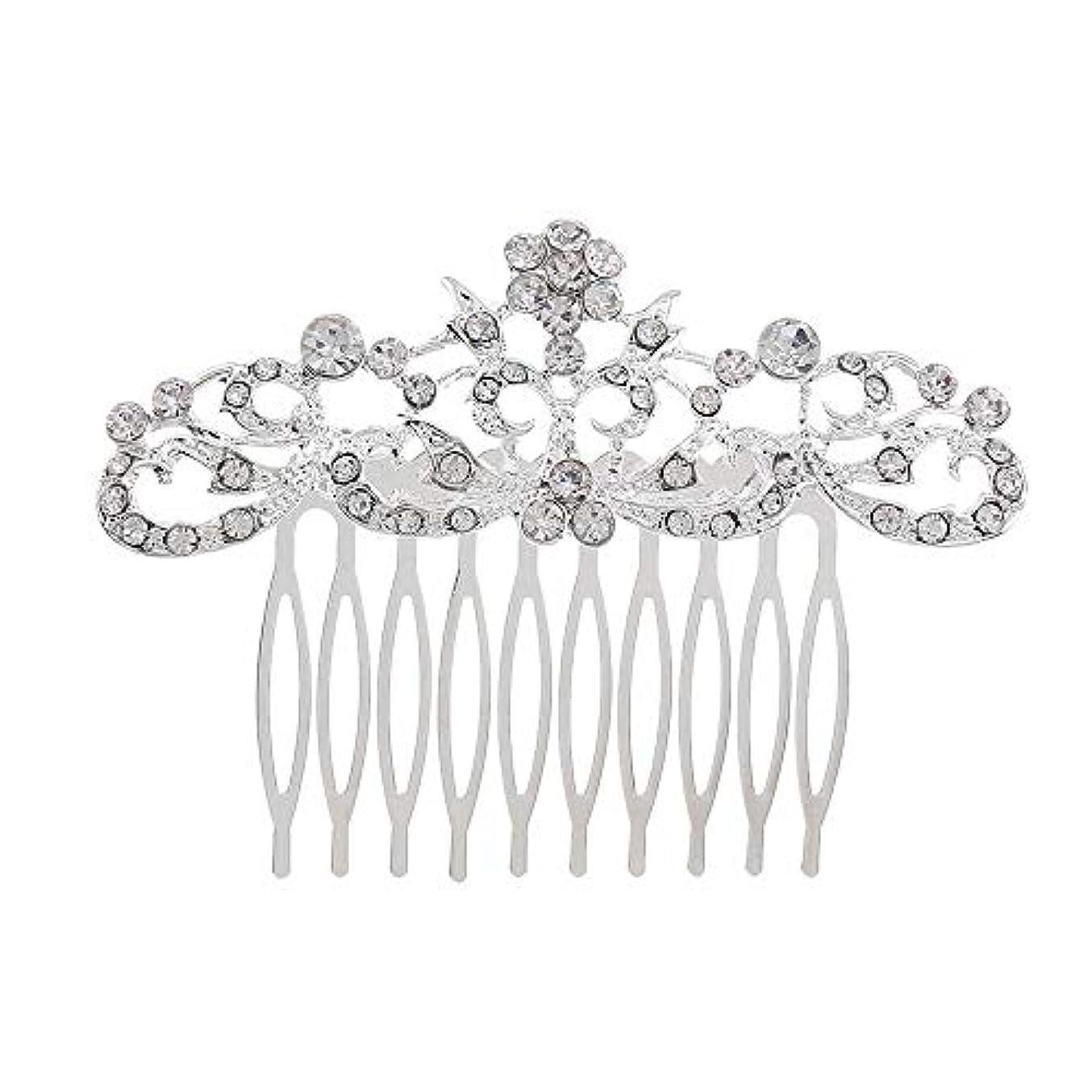 関係ない通常うめき髪の櫛の櫛の櫛の花嫁の髪の櫛のファッションラインストーンの櫛の櫛の花嫁の頭飾りの結婚式のアクセサリー