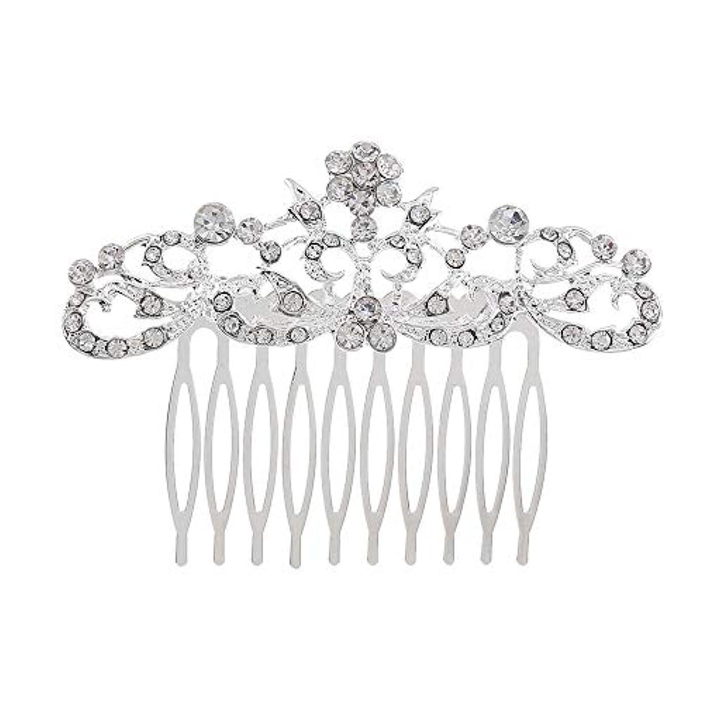 招待とても多くのおめでとう髪の櫛の櫛の櫛の花嫁の髪の櫛のファッションラインストーンの櫛の櫛の花嫁の頭飾りの結婚式のアクセサリー
