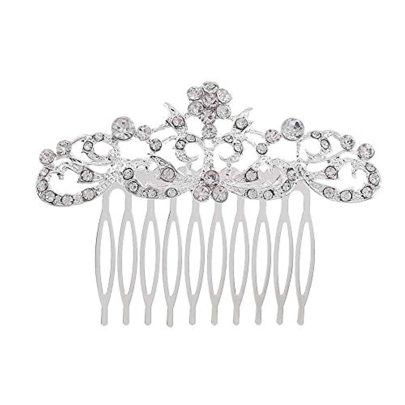 受動的疑わしい機構髪の櫛の櫛の櫛の花嫁の髪の櫛のファッションラインストーンの櫛の櫛の花嫁の頭飾りの結婚式のアクセサリー