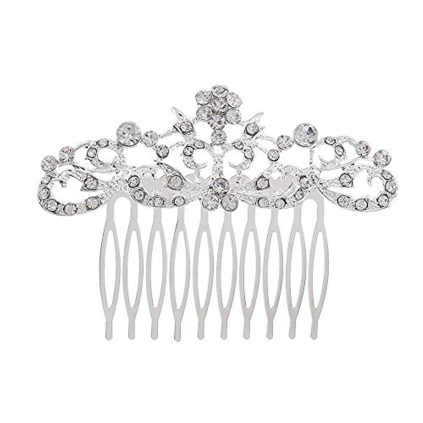 ペチコート和らげる粉砕する髪の櫛の櫛の櫛の花嫁の髪の櫛のファッションラインストーンの櫛の櫛の花嫁の頭飾りの結婚式のアクセサリー