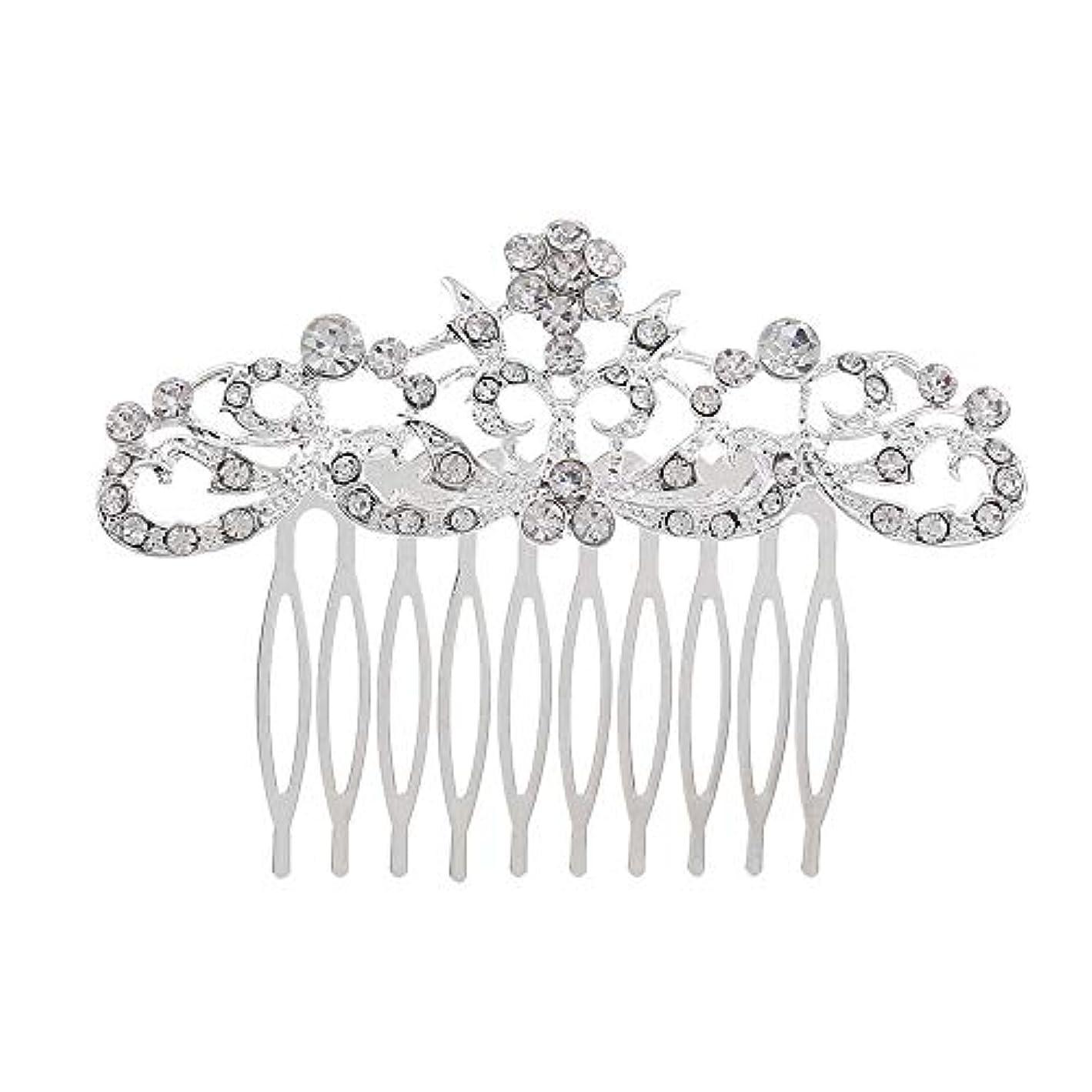 引退したバイオレットではごきげんよう髪の櫛の櫛の櫛の花嫁の髪の櫛のファッションラインストーンの櫛の櫛の花嫁の頭飾りの結婚式のアクセサリー