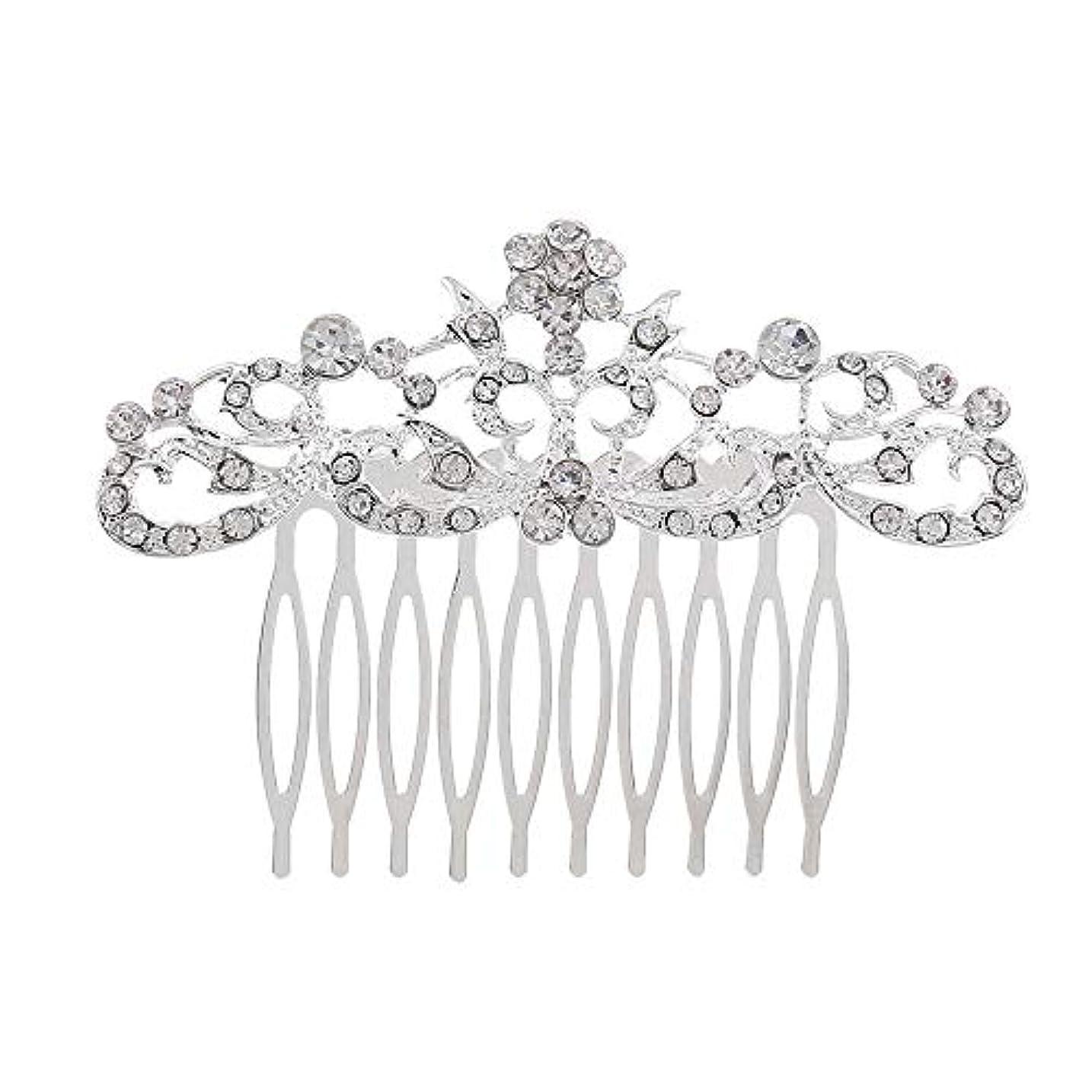 弾力性のあるチャート単独で髪の櫛の櫛の櫛の花嫁の髪の櫛のファッションラインストーンの櫛の櫛の花嫁の頭飾りの結婚式のアクセサリー