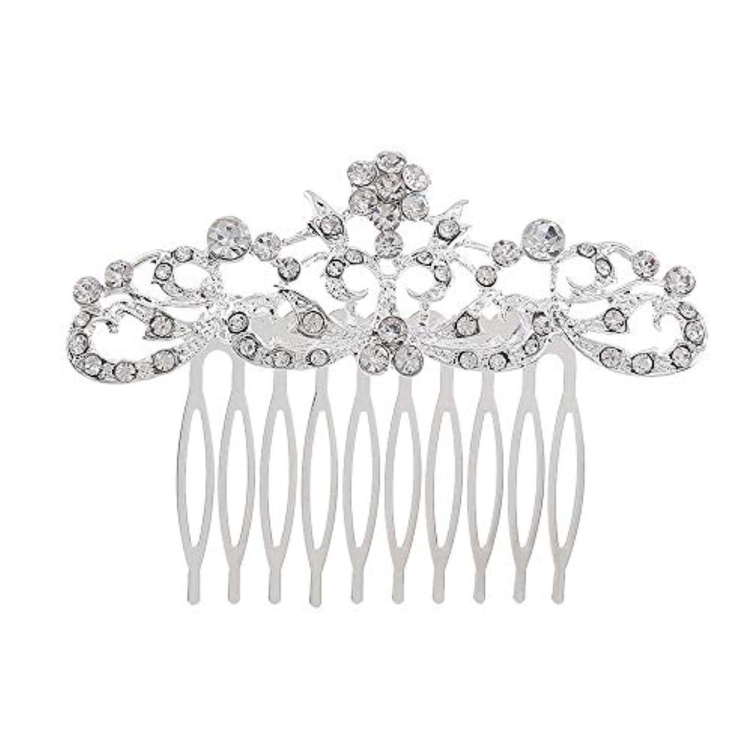 秘密の磁器ラッシュ髪の櫛の櫛の櫛の花嫁の髪の櫛のファッションラインストーンの櫛の櫛の花嫁の頭飾りの結婚式のアクセサリー