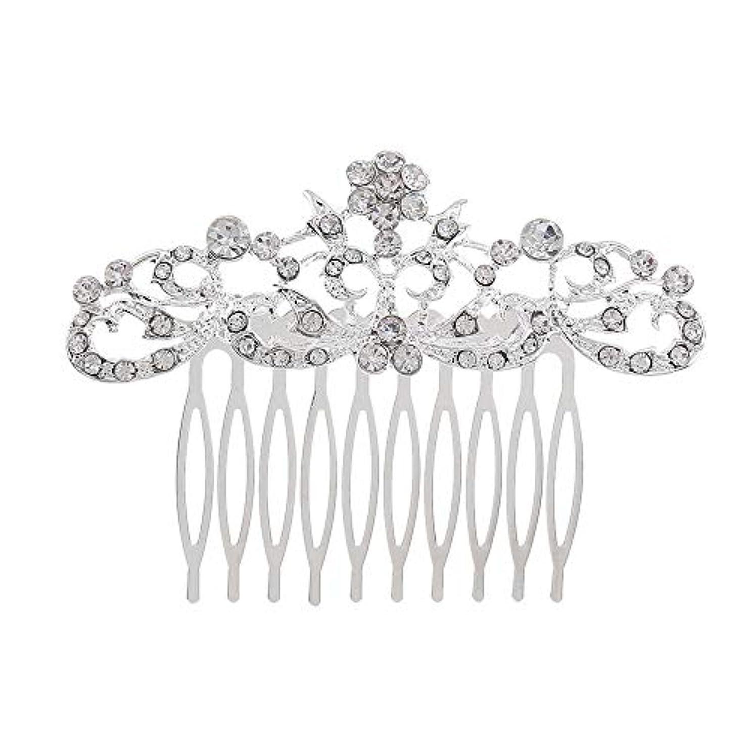 ダウンタウンお互い修羅場髪の櫛の櫛の櫛の花嫁の髪の櫛のファッションラインストーンの櫛の櫛の花嫁の頭飾りの結婚式のアクセサリー