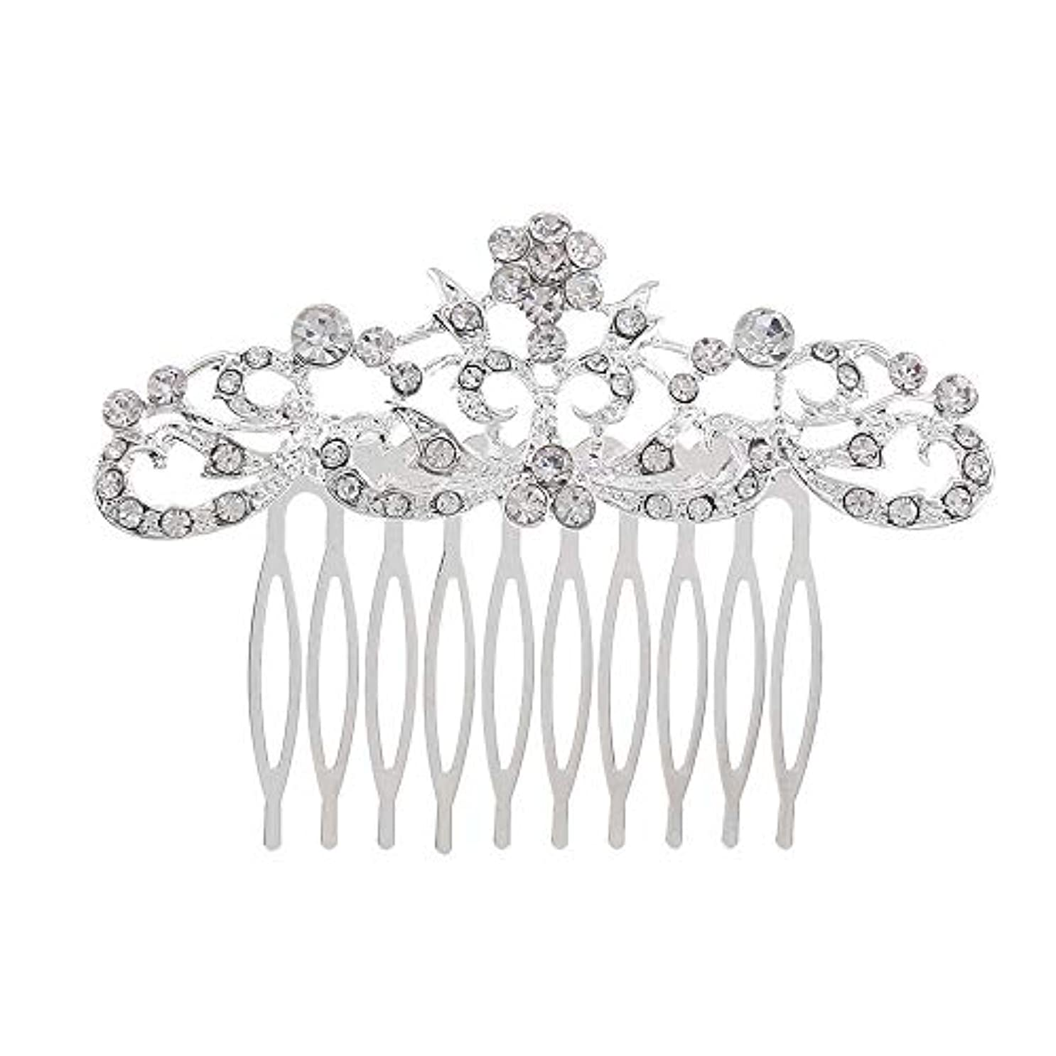 髪の櫛の櫛の櫛の花嫁の髪の櫛のファッションラインストーンの櫛の櫛の花嫁の頭飾りの結婚式のアクセサリー