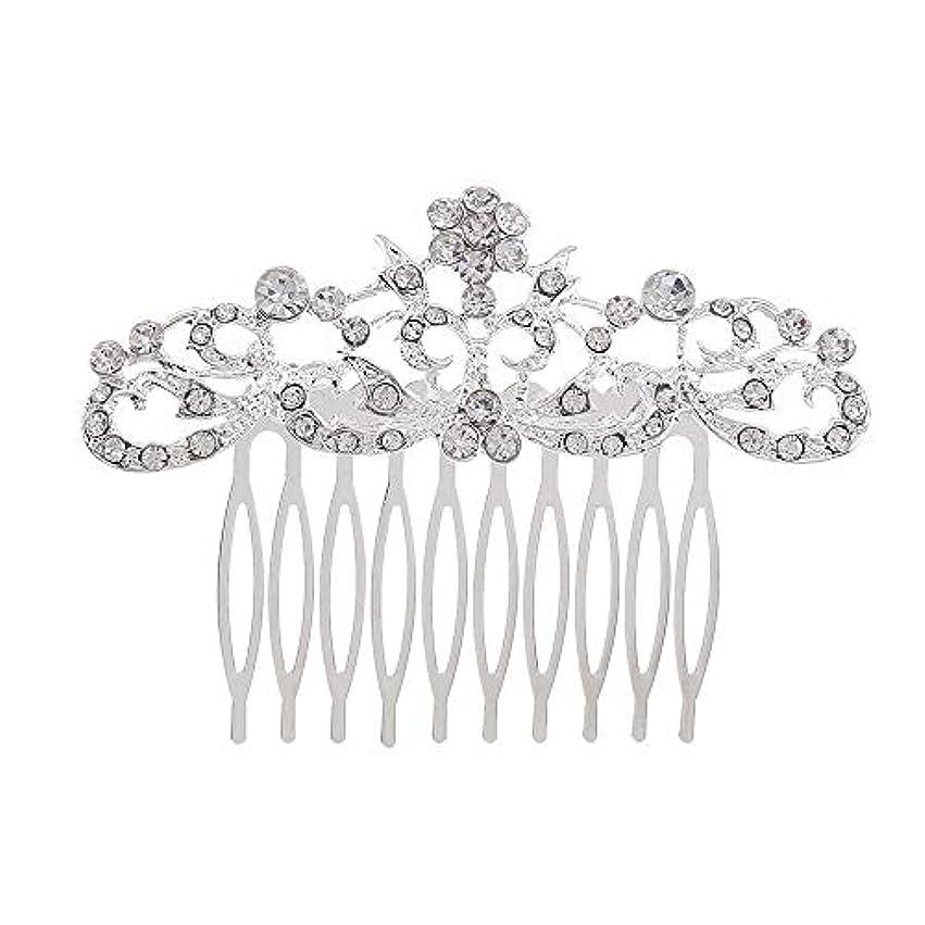 証書バーマド申込み髪の櫛の櫛の櫛の花嫁の髪の櫛のファッションラインストーンの櫛の櫛の花嫁の頭飾りの結婚式のアクセサリー