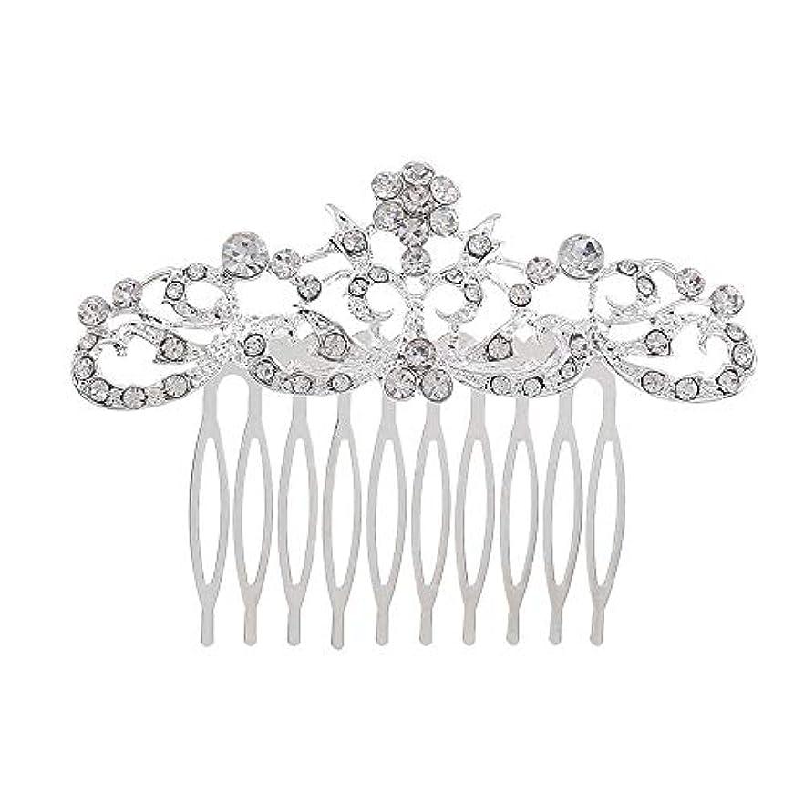 再発するモンク花弁髪の櫛の櫛の櫛の花嫁の髪の櫛のファッションラインストーンの櫛の櫛の花嫁の頭飾りの結婚式のアクセサリー