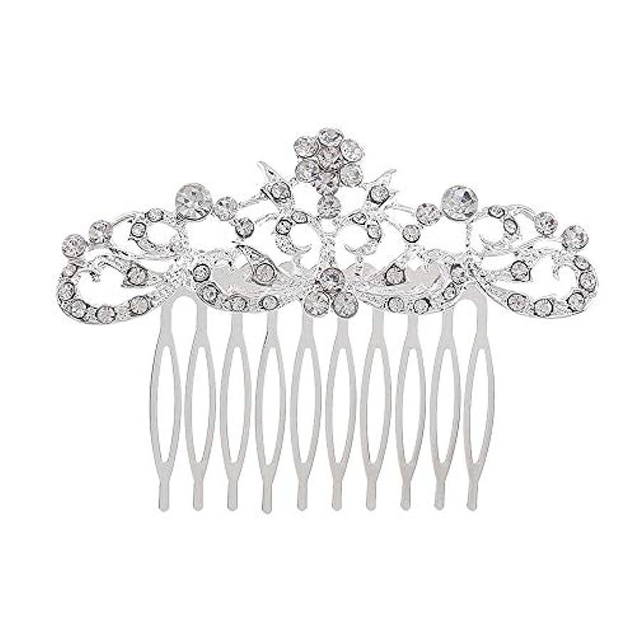 コカイン転送美徳髪の櫛の櫛の櫛の花嫁の髪の櫛のファッションラインストーンの櫛の櫛の花嫁の頭飾りの結婚式のアクセサリー
