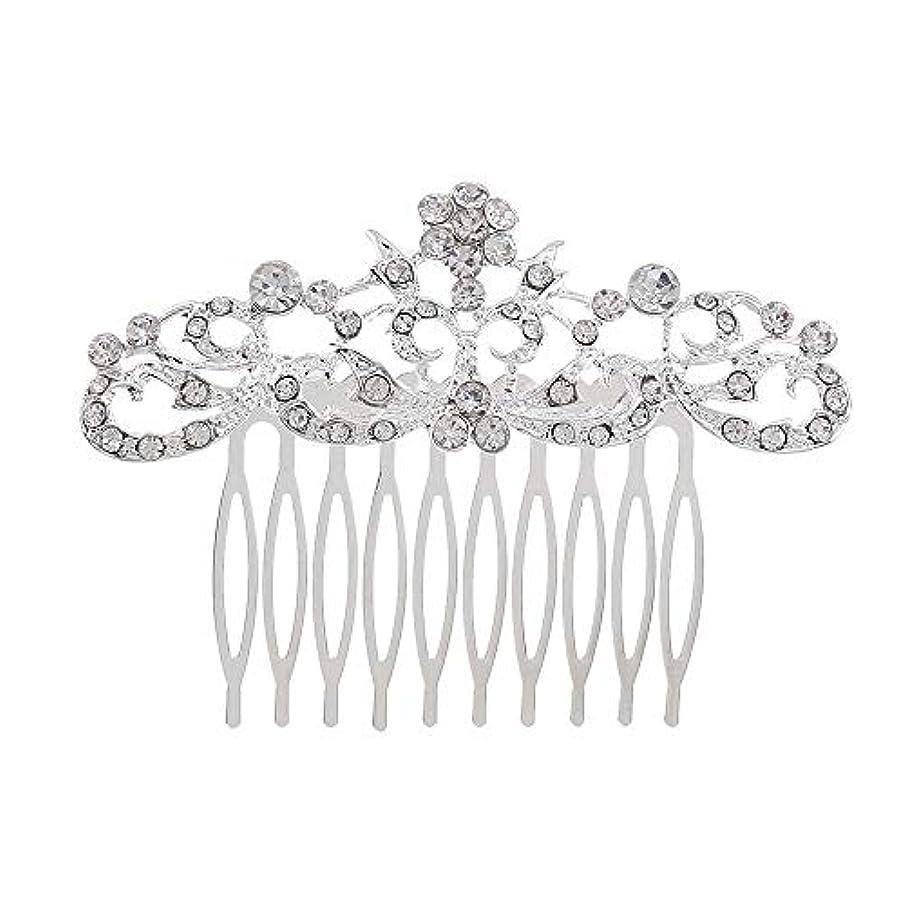 回復するラインデッキ髪の櫛の櫛の櫛の花嫁の髪の櫛のファッションラインストーンの櫛の櫛の花嫁の頭飾りの結婚式のアクセサリー