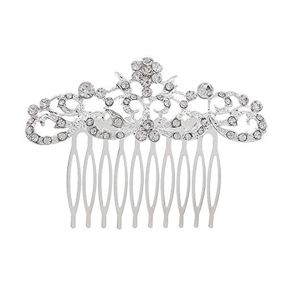 証明する頑張るシェトランド諸島髪の櫛の櫛の櫛の花嫁の髪の櫛のファッションラインストーンの櫛の櫛の花嫁の頭飾りの結婚式のアクセサリー