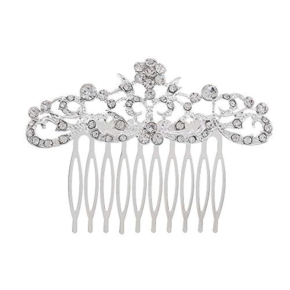 オプション詳細にフォルダ髪の櫛の櫛の櫛の花嫁の髪の櫛のファッションラインストーンの櫛の櫛の花嫁の頭飾りの結婚式のアクセサリー