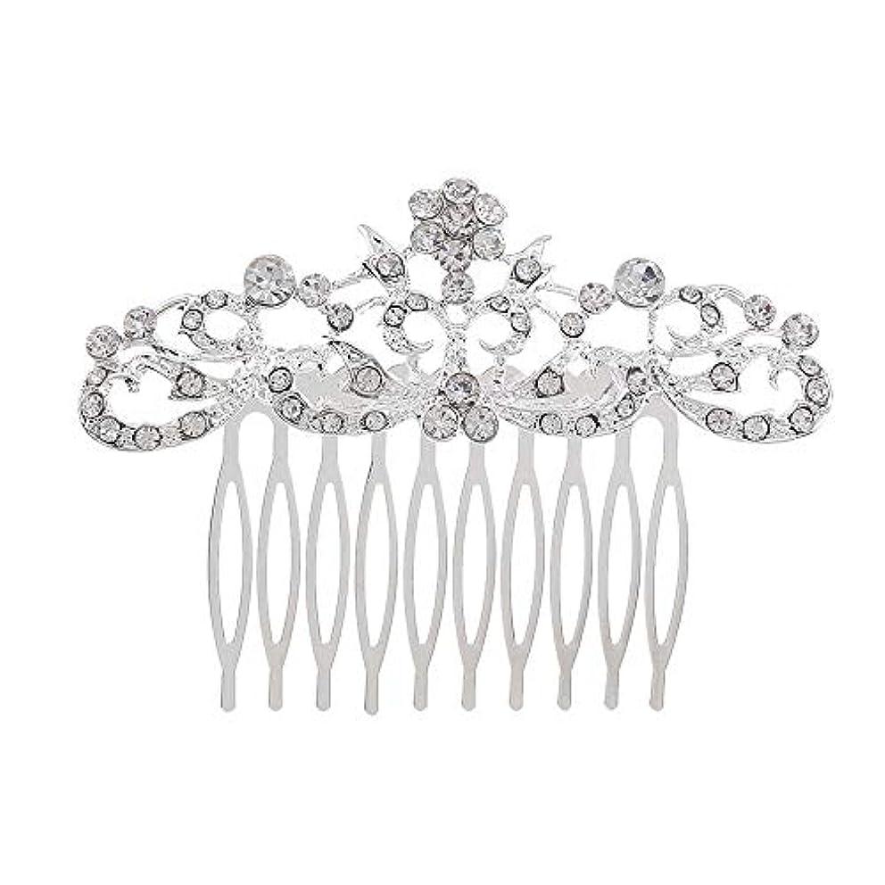 経験処分した法令髪の櫛の櫛の櫛の花嫁の髪の櫛のファッションラインストーンの櫛の櫛の花嫁の頭飾りの結婚式のアクセサリー