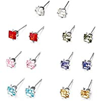 Mestige Princess Everyday Pack Stud Earrings with Swarovski® Crystals, Gift