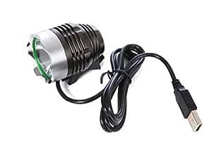 【NLAセレクト】強力LEDライト USBチャージ CREEチップ使用 モバイルチャージャーモデル 明るいヘッドライト