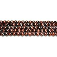 [ ハッピーボム ] レッドタイガーアイ 6mm 高品質 5A 丸玉 半連 約17~18cm 天然石 ビーズ パワーストーン ブレスレット 作成用