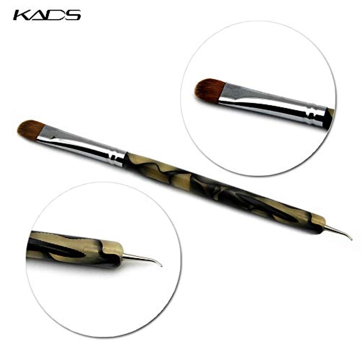 面倒あなたが良くなりますスーツKADS コリンスキー製 ジェルネイルブラシ /ネイルドットペン 2way用 フレンチラインブラシ アクリルネイル用ブラシ ネイルアート専用ツール(1個/セット)