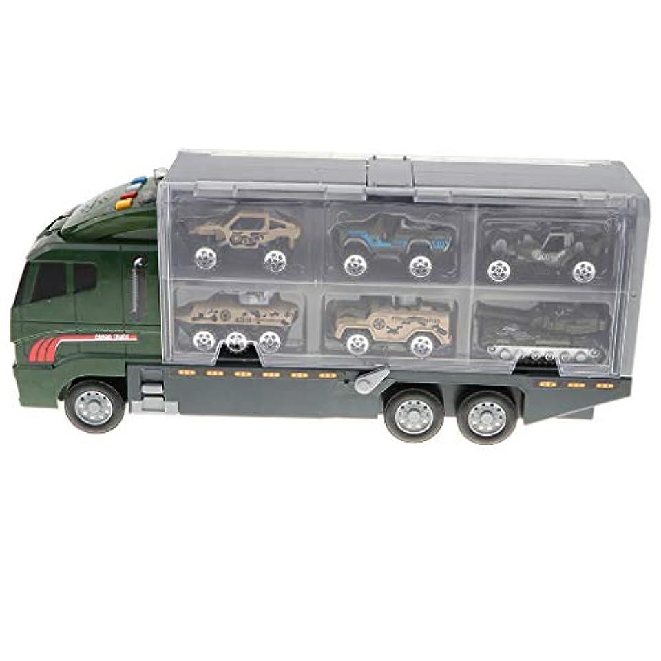 骨の折れるオプション満了車おもちゃ コンテナ玩具 子供 コンテナトラック おもちゃ 組み立て 7個入 4色選ぶ - 軍用車両