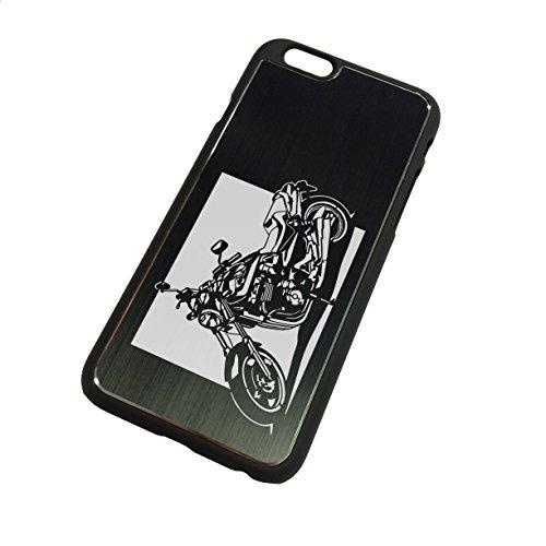 iPhone6 plus(5.5インチ)ケース「ホンダ(HONDA) X4 」切り絵デザイン ブラックアルマイト[BI6P-008]