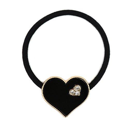 [해외]골드 프레임 하트 2 디자인 헤어 고무 JewelVOX (보석 상자)/Gold Frame Heart 2 Design Hair Rubber JewelVOX (Jewel Box)