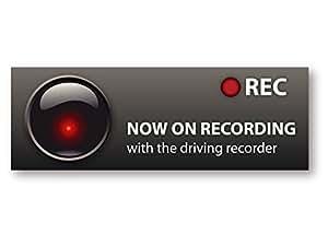 ドライブレコーダー搭載ステッカー 夜間にも威力を発揮する再帰反射タイプ ドライブ