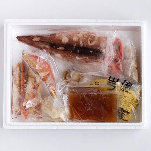 海鮮かに鍋〔 ゆでずわいかにカット、エビ、帆立、えび入つみれ、つぼ抜きいか、ラーメン、しお鍋のタレ〕 北海道 お取り寄せ鍋