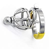 RongAi Chen カテーテルカテーテル貞操ケージペニスロック大人のおもちゃでメンズステンレス鋼痰 (Size : 43mm snap ring)