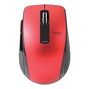 エレコム マウス Bluetooth 4.0対応 省電力(電池寿命:約1.3年) 5ボタン BlueLED レッド M-BT20BBRD