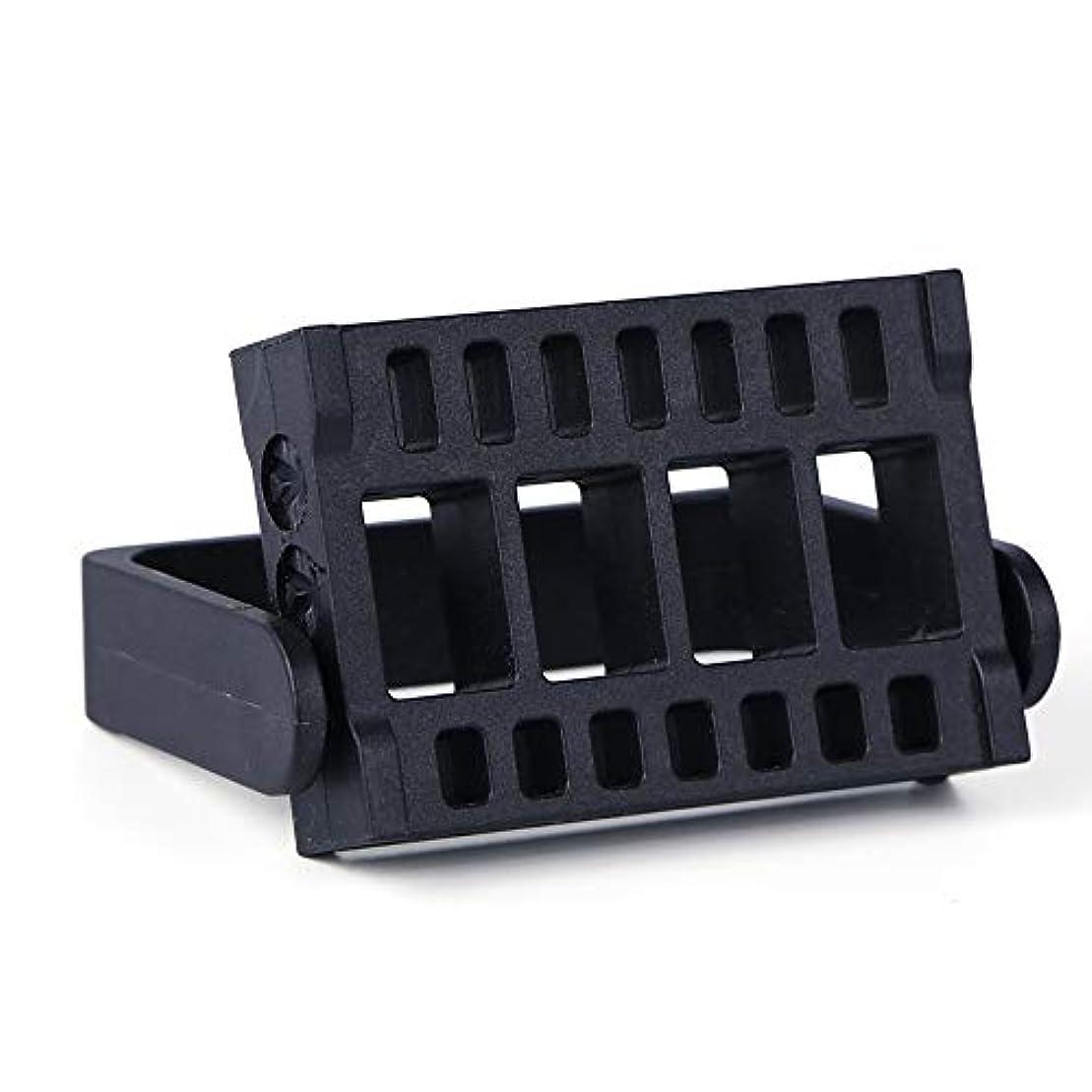 にんじん不公平キャンセル1本16穴ネイルドリルビットホルダー展示スタンドディスプレイボックス電気ネイルファイルコンテナマニキュアツール