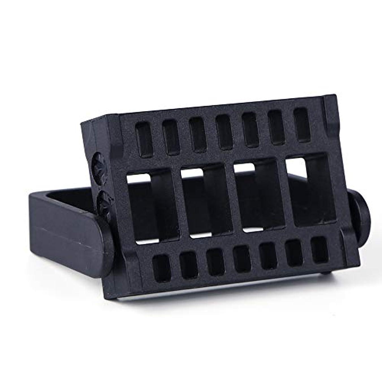 スクラッチ気味の悪い瞑想的1本16穴ネイルドリルビットホルダー展示スタンドディスプレイボックス電気ネイルファイルコンテナマニキュアツール