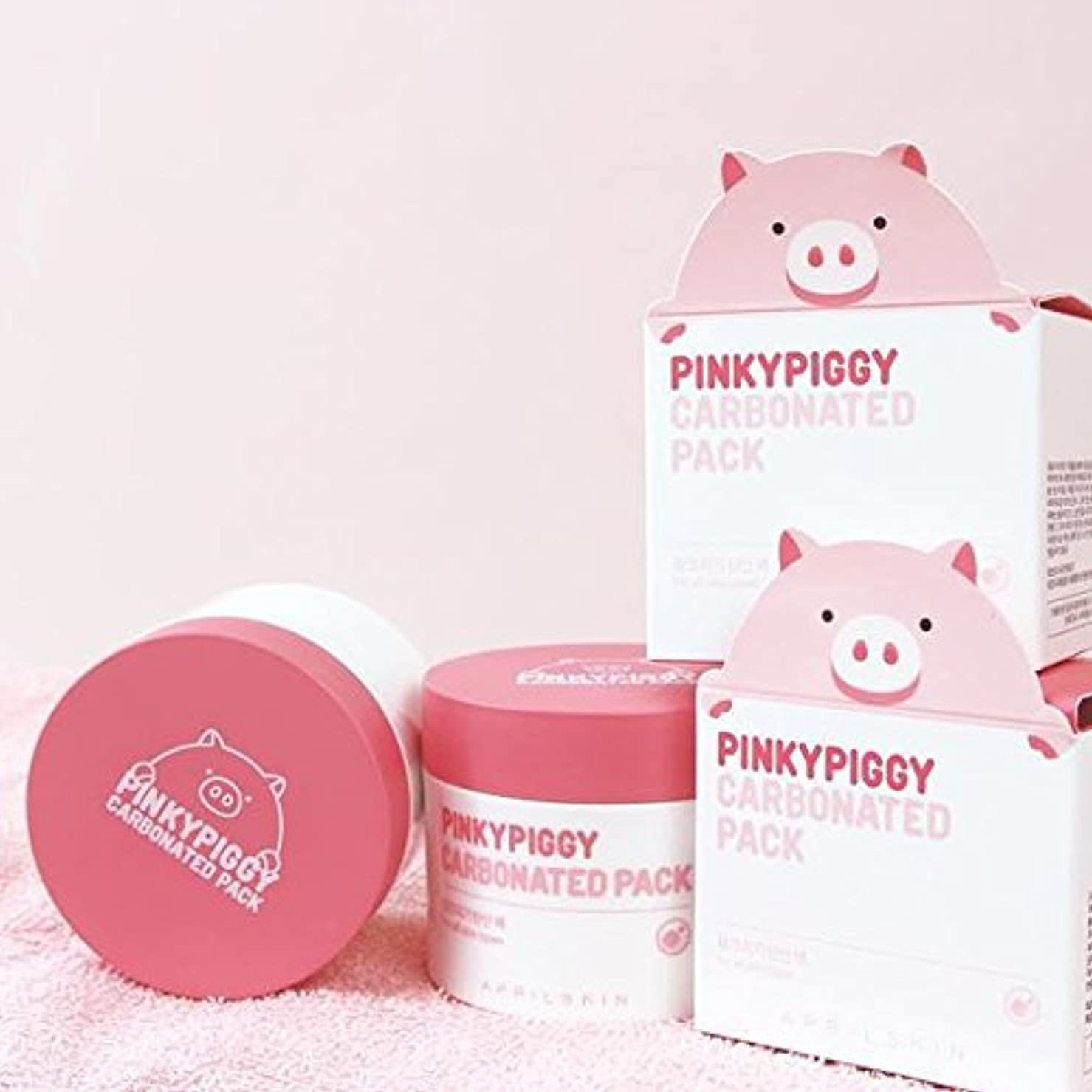 行為ウェーハシェフApril Skin Pinky Piggy Carbonated Pack 100g Direct form Korea/w Gift Sample [並行輸入品]