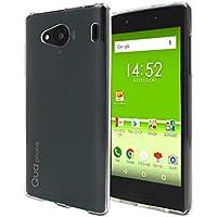 Qua phone QX KYV42 スマホケース クリア カバー 耐衝撃 薄型 耐熱性 シンプル 高光沢 軽量 ソフト マイクロドット加工 【Provare】