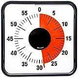 Living Hall スクールタイマー タイムタイマー ダイヤルタイマー キッチンタイマー 幼児教育 学習用 料理用 操作簡単 60分 時間管理 (8cm ポジティブ(ブルー))
