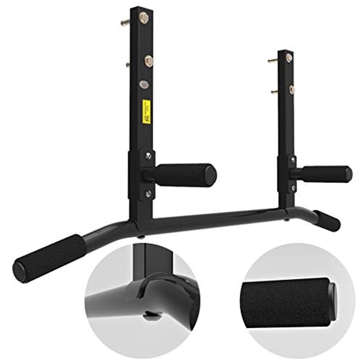 モーター式ところで腹筋器具 平行棒 スポーツフィットネス機器 家庭用屋内プルアップ 壁取り付け壁水平バー プルアップ (Color : Black, Size : 100*45*15cm)