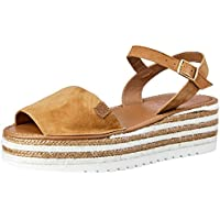 POPA SHOES Women's Zante Cork Zante Cork Suede Women Sandal