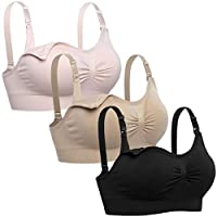 Lataly Womens Seamless Nursing Bra Sleeping Maternity Bralette for Breastfeeding
