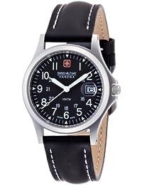 [スイスミリタリー]SWISS MILITARY 腕時計 クラシック ML/5 レザー 黒文字盤 黒レザーベルトタイプ メンズ [正規輸入品]