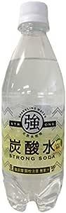 友桝飲料 強炭酸水 レモンフレーバー 天然水使用 STRONG SODA 500ml×24本